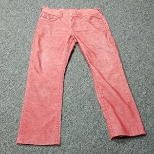 True Religion red tight cord pants